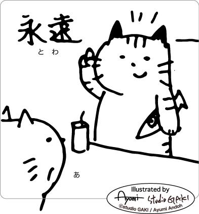 答えを返す猫のイラスト