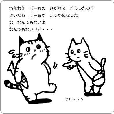 質問する猫のイラスト