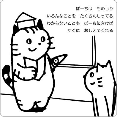 博士の猫のイラスト