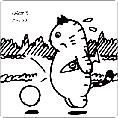 サッカーする猫のイラスト