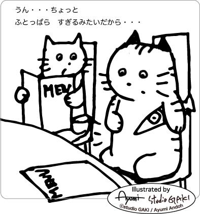 太っ腹な猫のイラスト